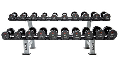 TAG 2 Tier Dumbbell Rack with Saddles (10pair)