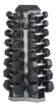tag 8 pair vertical dumbbell rack