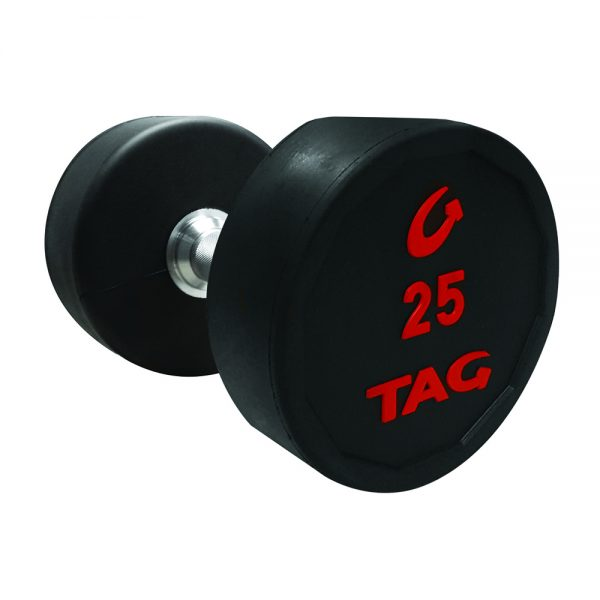 tag round rubber dumbbells set tag fitness