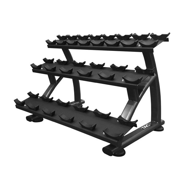 3 Tier Kettlebell Rack: TAG 3 Tier Dumbbell Rack With Saddles (10pair)
